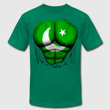 Pakistan Flag Ripped Muscles, six pack, chest t-sh - Men's Fine Jersey T-Shirt