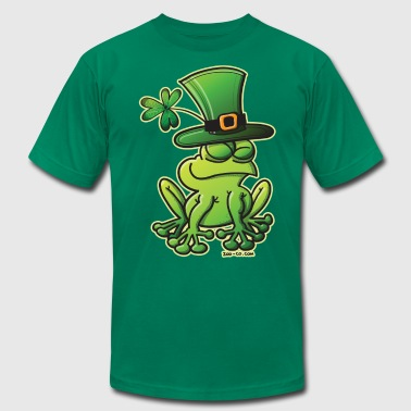 Saint Patrick's Day Frog - Men's Fine Jersey T-Shirt