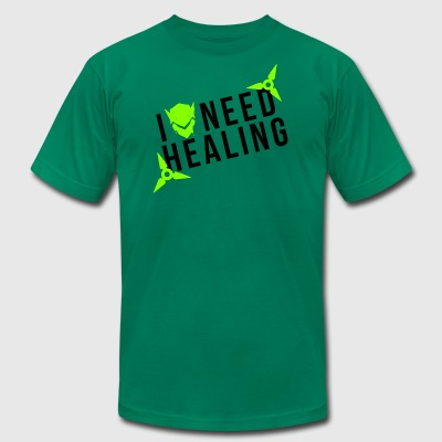 OVERWATCH GENJI I NEED HEALING DESIGN - Men's T-Shirt by American Apparel