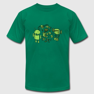 Android Exploded - Men's T-Shirt by American Apparel