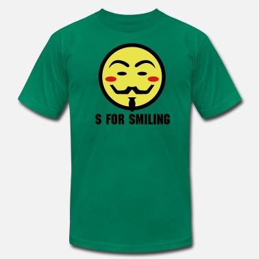 Guy Smiley Vendetta Smiley Icon 3c - Men's  Jersey T-Shirt