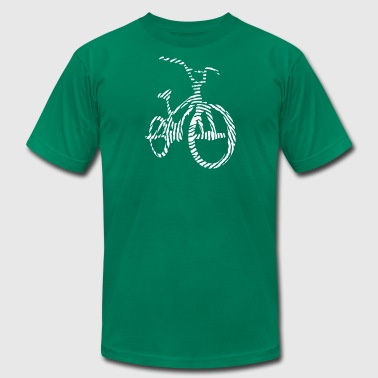 BMX Fingerprint - Bicycle Motocross - Bike - Men's Fine Jersey T-Shirt