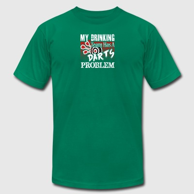 Darts T shirt My Drinking Team - Men's T-Shirt by American Apparel