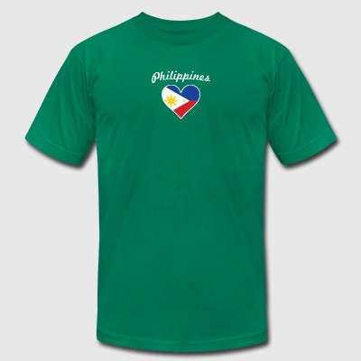Philippines Flag Heart - Men's T-Shirt by American Apparel