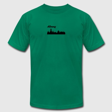 Albany NY Skyline - Men's T-Shirt by American Apparel
