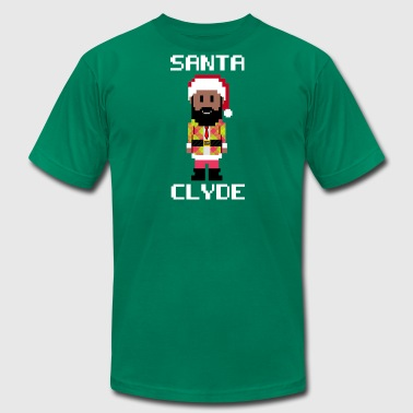 Santa Clyde So Fly (8-Bit) - Men's T-Shirt by American Apparel