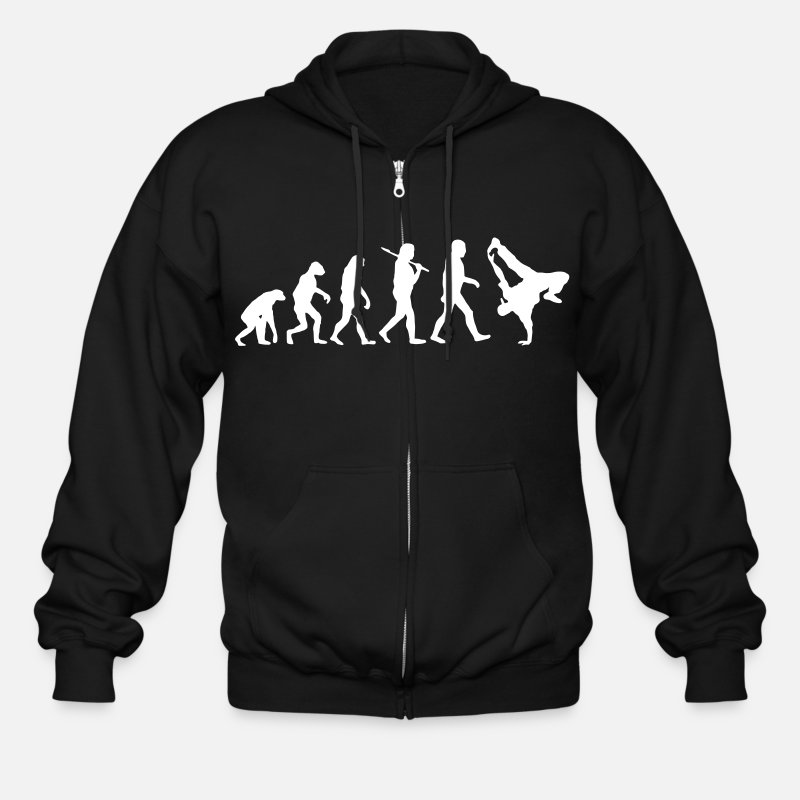 School Hoodies & Sweatshirts - Hip Hop Evolution - Men's Zip Hoodie black