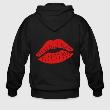 Lips Kiss - Men's Zip Hoodie
