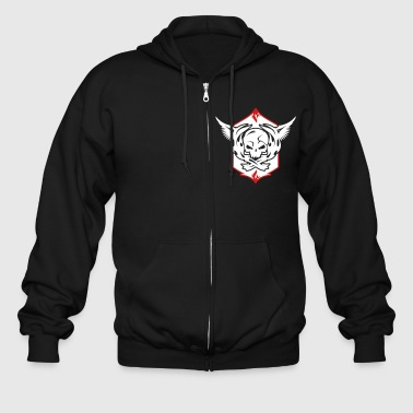 Patches Patch with skull and wings  - Men's Zip Hoodie