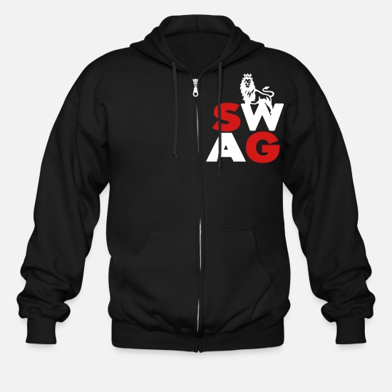 Swag Hoodies & Sweatshirts - SWAG - Men's Zip Hoodie black