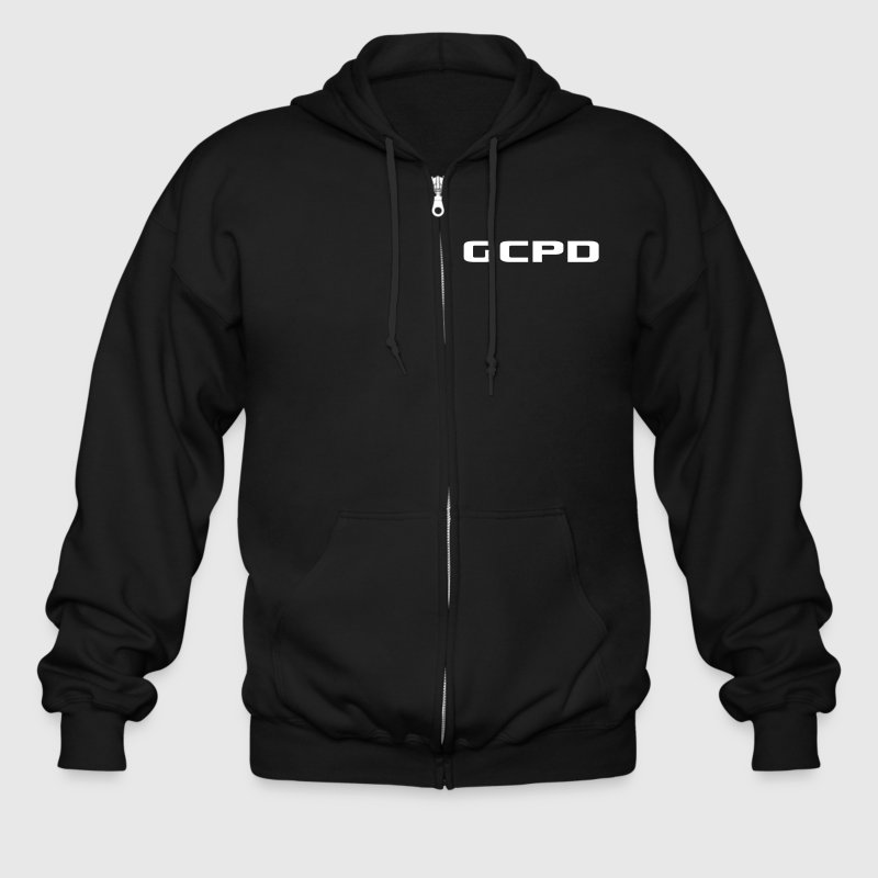 Men's Zip Hoodie - Batman,Dark,GCPD,gotham,police,swat,system