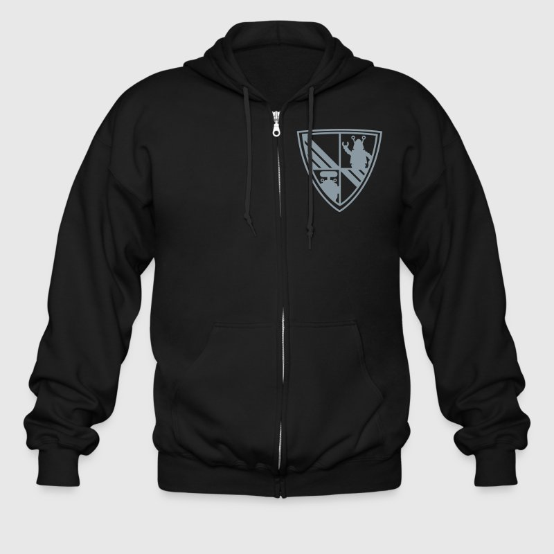 BecauseRobots Coat of Arms (v2) - Men's Zip Hoodie