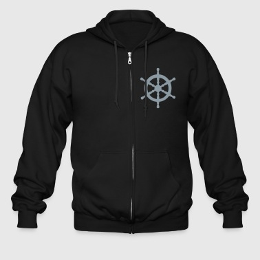 Nautical Nautical Wheel - Men's Zip Hoodie