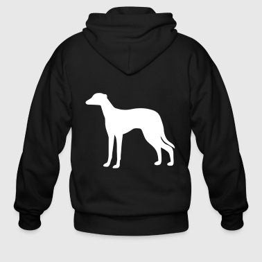 Greyhound Dog - Men's Zip Hoodie
