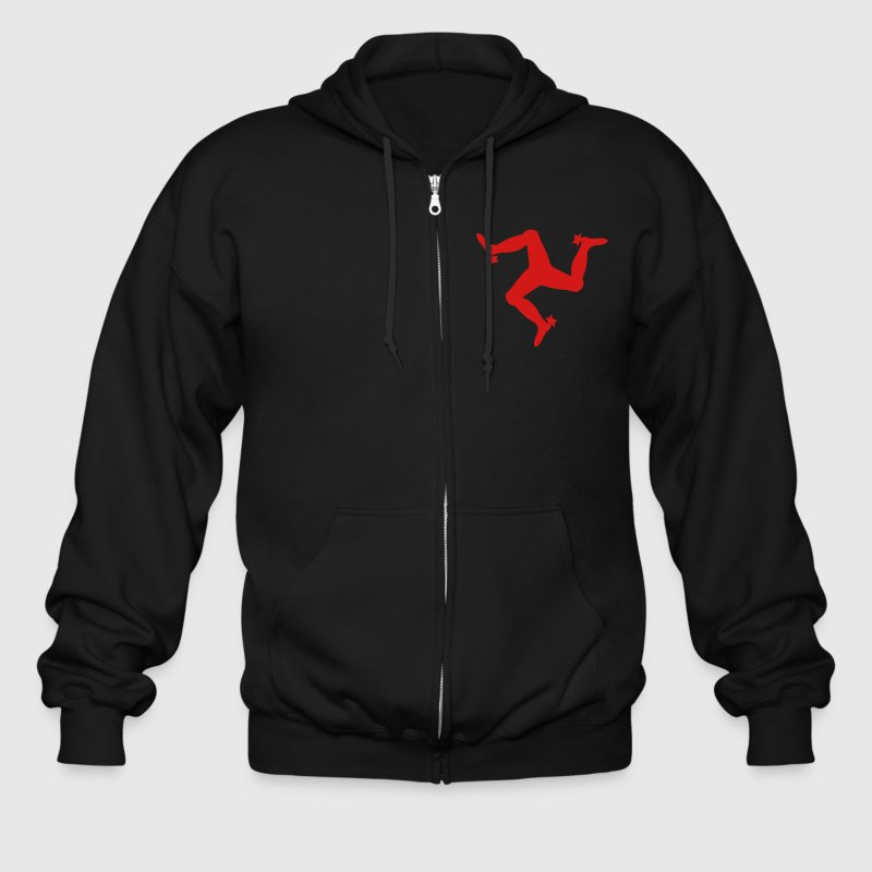 The Manx Triskelion, emblem of the Isle of Man - Men's Zip Hoodie