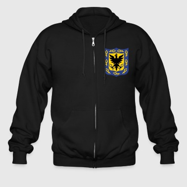 Seal of Bogota, Colombia. - Men's Zip Hoodie