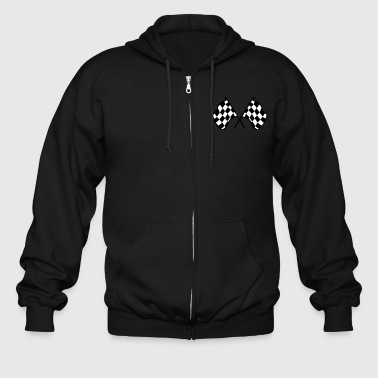 Checkered Racing Flags - Men's Zip Hoodie
