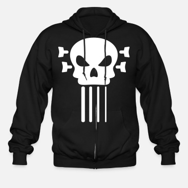 Bass Bass guitar and skull - Men's Zip Hoodie
