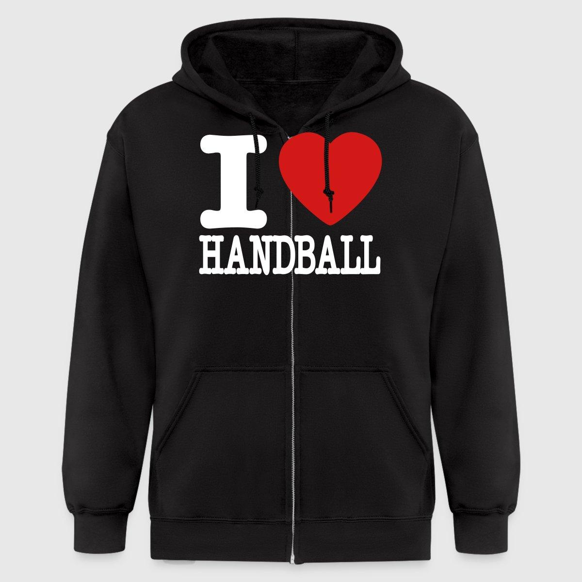 I Love Handball Zip Hoodie