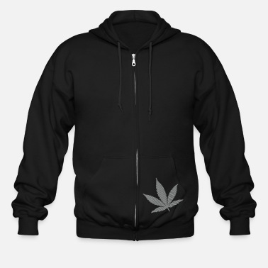 Cannabis Cannabis Leaf (stripes, 2colors) - Men's Zip Hoodie