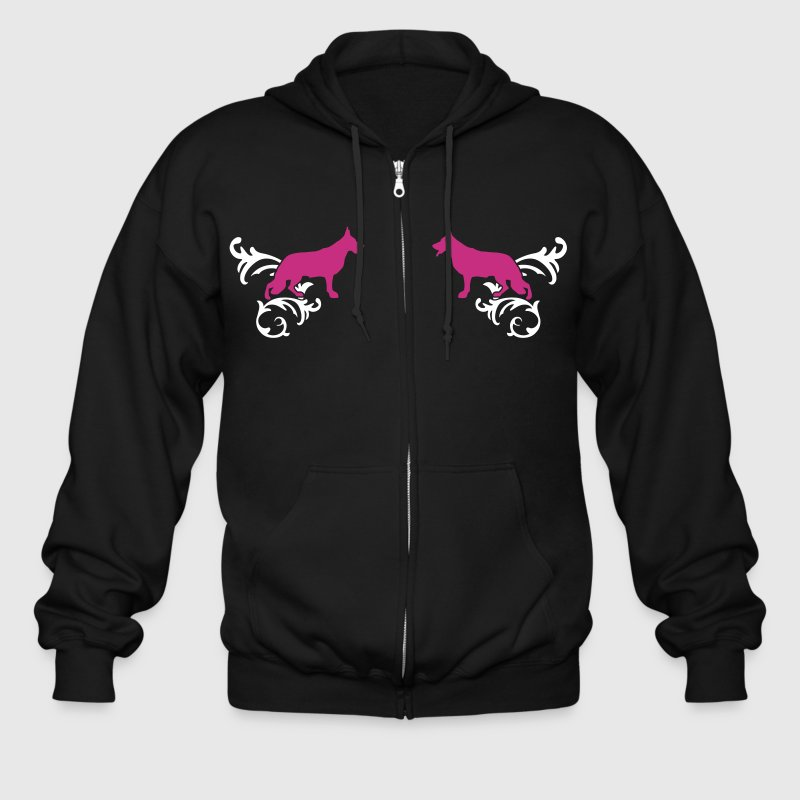 German Shepherd Dog - Men's Zip Hoodie