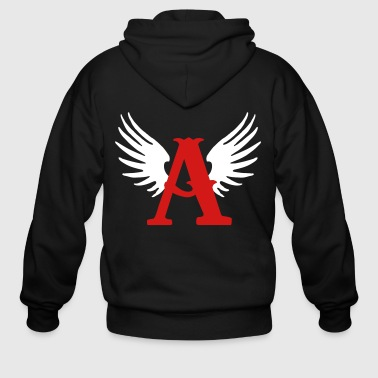 arch_angl_logo_letter - Men's Zip Hoodie