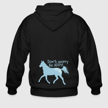 Don't worry, be APPY - Men's Zip Hoodie