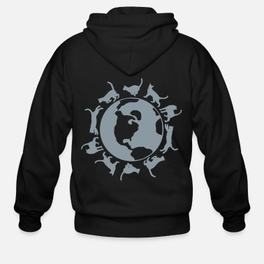 Running Cats Run the World - Men's Zip Hoodie
