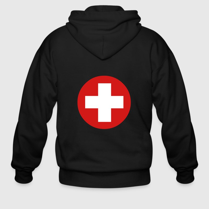 Medical Cross Symbol - Men's Zip Hoodie