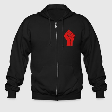 Raised Fist - Black Power - Men's Zip Hoodie