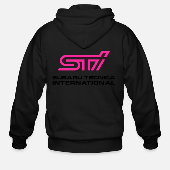 Subaru Hoodies & Sweatshirts - STI Subaru Tecnica International - Men's Zip Hoodie black