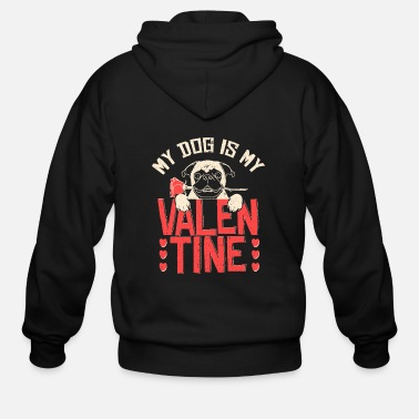 Valentine's Day Dog Valentine's Day - Men's Zip Hoodie