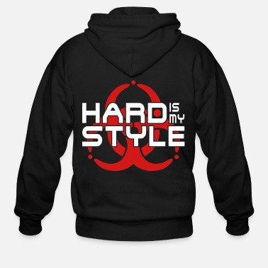 Hardstyle hard is my style - hardstyle vector - Men's Zip Hoodie