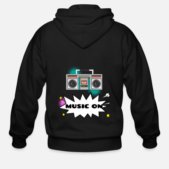 Gift Idea Hoodies & Sweatshirts - Music radio - Men's Zip Hoodie black