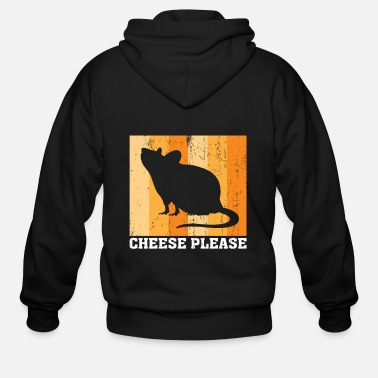 Mouse mouse rat cheese gift - Men's Zip Hoodie