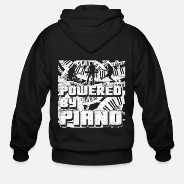 Sit Piano Grand Piano Breathtaking Classic - Men's Zip Hoodie