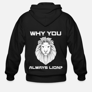Hunting Lion Lion Safari Zoo Mane King Jungle Gold - Men's Zip Hoodie