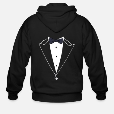 Suit A Formal Suit Tee For Gentlemen Tshirt Design - Men's Zip Hoodie