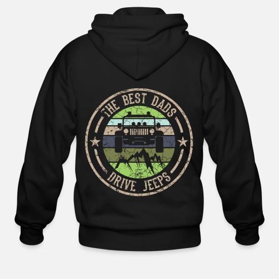 Jeep Hoodies & Sweatshirts - Nice Riding Tee For Riders With A Retro - Men's Zip Hoodie black