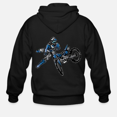 Motocross Yamaha Freestyle Dirt Bike T-Shirts - Men's Zip Hoodie