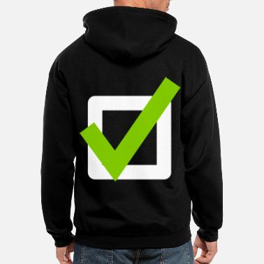 Check Mark Check Mark ok sign Icon - Men's Zip Hoodie