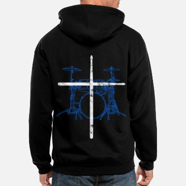 Drumsticks Drums Drummer Drumsticks God - Men's Zip Hoodie