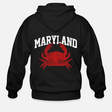 Crab Maryland crabs - Men's Zip Hoodie