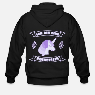 Beautiful Beautiful unicorn I am a princess - Men's Zip Hoodie
