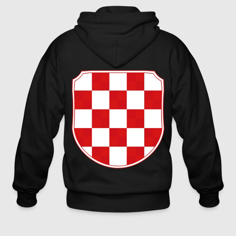 Croatia Hrvatska Coat of arms Sahovnica - Men's Zip Hoodie