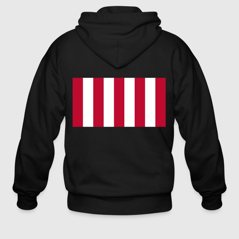 Rebellious Flag - Men's Zip Hoodie