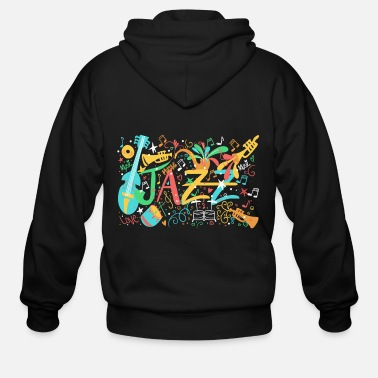 Jazz Jazz Music - Men's Zip Hoodie