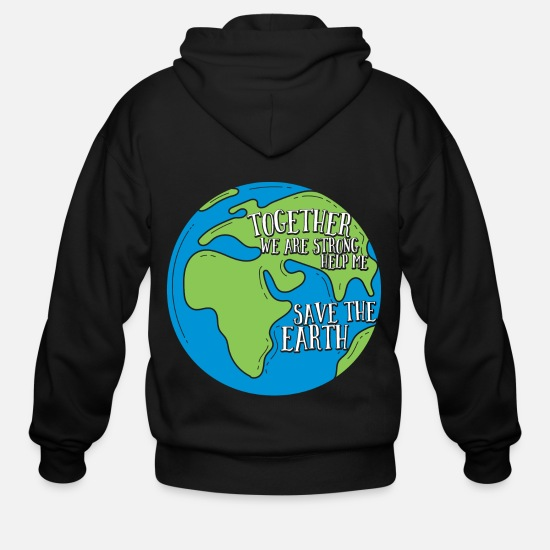 World Hoodies & Sweatshirts - Climate Change Environment Nature Earth Cool Gift - Men's Zip Hoodie black