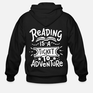 Read Reading Reading Reading - Men's Zip Hoodie