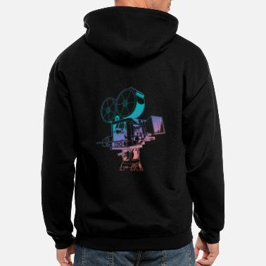 Videography Vintage Video Camera - Men's Zip Hoodie